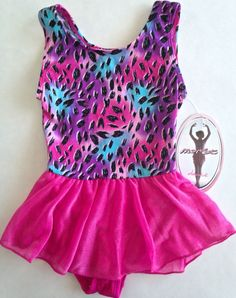 MORET Leotard Figure Skating Dress Girls Size L 12/14 Dance Ballet NEW #JacquesMoret
