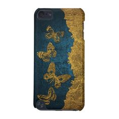 Elegant Faux Leather Golden Butterflies design iPod Touch (5th Generation) Case - elegant gifts gift ideas custom presents