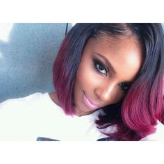 Tissage Naturel Ombré Hair 1B/Red
