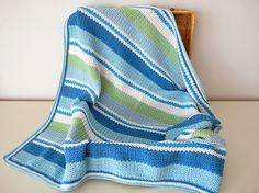 Studio 92 Designs: Gestreepte babydeken / striped baby blanket #crochet