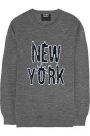 Markus LupferNew York sequined merino wool sweater