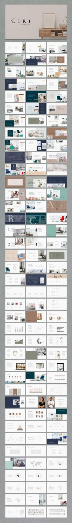 Ciri is an elegant, sleek, easy-to use template made for PowerPoint. Its multipurpose design allows you to use it for any field including interior design, home decoration, photography, portfolio, business, fashion, proposal presentations. #powerpoint #presentation #template #interiors