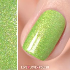 Il était un vernis:  Matcha Doing Today? Il était un vernis Matcha Doing Today? is a green holographic nail polish with pink micro glitters and golden shimmer.   Designed in France and manufactured in Australia!  Texture: This nail polish dries smooth. We still recommend applying clear top coat over the nail polish for a longer lasting mani!  Application: Opaque in 2-3 coats.