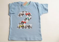 Tractor Birthday Shirt Choose Number 1 2 3 4 5 by TheColorfulYears, $26.00