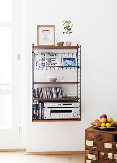 Tomado string shelves, midcentury