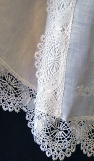 Lace detail on Isabella gown