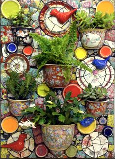 Rose Bush Care - So That You Can Have The Top Rose Bushes Jardim Picassiette By Andrea Olighon Mosaic Garden Art, Mosaic Flower Pots, Mosaic Pots, Mosaic Glass, Mosaic Tiles, Glass Art, Mosaic Art Projects, Mosaic Crafts, Garden Projects