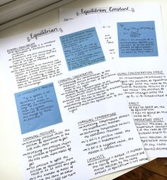 Chemistry notes on equilibrium. Exam in two days and oh my god am I stre… - SCHOOL NOTES Pretty Notes, Cute Notes, Good Notes, School Organization Notes, Study Organization, College Notes, School Notes, Schrift Design, Chemistry Notes