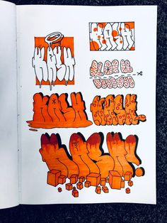 #graffiti #graffitiart #throwup #lettering #letteringart #drawing #handmade #orange Graffiti Art, Graffiti Sketch, Graffiti Styles, Letter Art, Lettering, Character, Orange, Drawings, Simple