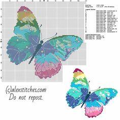 Un PCStitch libera Schemi punto croce farfalla multicolore