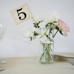 Flag Table Numbers from notonthehighstreet.com