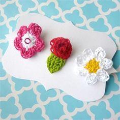 Crochet flower hair @Af 5/1/13