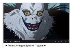 Now all you who know me know where I get my winged eyeliner tutorials from hahahahahahahaha