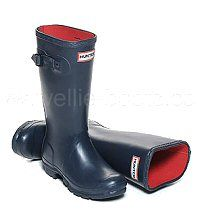 Warm Neoprene Lined Children's Hunter Boots in Dark Navy Blue - Boys & Girls sizes UK EU Reflective safety patch on heel and rear top. Hunter Wellington Boots, Girls Sizes, Wellies Boots, Dark Navy Blue, Hunter Boots, Rubber Rain Boots, Boy Or Girl, Safety, Textiles