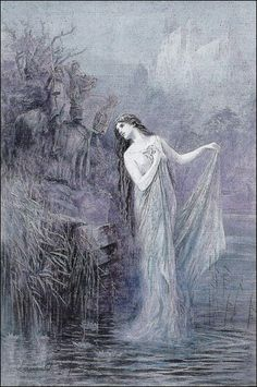 """""""The Lady of the Lake"""" by Lancelot Speed,   from The Legends of King Arthur and His Knights   (Frederick Warne and Co., 1912)"""