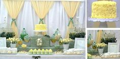 """Photo 5 of 9: Sage Green, Lemon & White (Bird Cage) / Baby Shower/Sip & See """"Baby Shower - Sage Green, Lemon & White (Bird Cage)"""" 