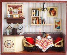 DIY Wooden Dollhouse Miniatures Beautiful Feeling Moment With Light Coffee Shop