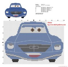 Brent Mustangburger from Disney Planes cross stitch pattern