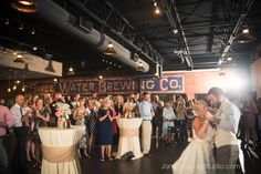 Bride and Groom first dance at Sweetwater Brewing Atlanta Wedding Reception
