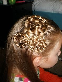 hair flowers hairstyles-for-kids