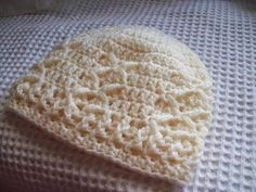 """This """"Kisses"""" beanie by Cats Rockin Crochet makes a great charity project.  Crochet it in our new yarn, Modern Baby."""