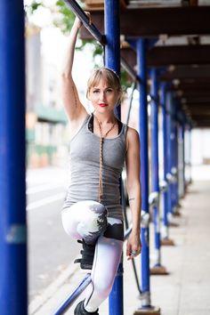 Tattoos and Teeki Yoga Pants in Bushwick, Brooklyn. Photography by The Phoblographer, Chris Gampat