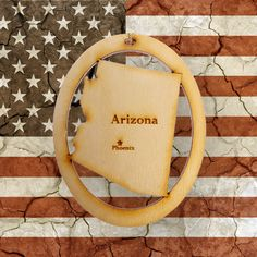 Handcrafted Arizona Christmas Ornaments! Personalized FREE!
