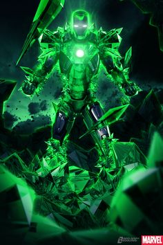 Iron Man in Kryptonite Anti-Superman Armor by Bosslogic