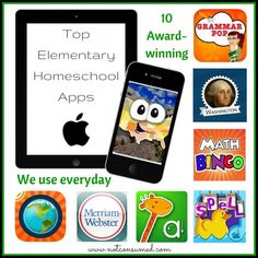 10 Award Winning Elementary Homeschool Apps that we use in our homeschool every day (or nearly every day).
