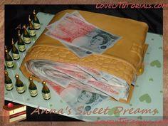 Wallet full of money cake tutorial