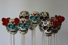 Day of the dead cake pops Now these would be a lot of work!