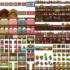 I think it's my last resource for RPG Maker VX/Ace Previously I tried to do full 512 px tile, but now I know I won't be able to complete it. Sprites, Rpg Maker Vx, Isometric Map, Digital Texture, Pixel Art Games, Pixel Design, Game Props, Paper Crafts Origami, Game Assets