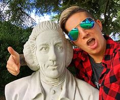 """""""When your mom takes you to an expensive museum but your inner 3 year old comes out as always.  o o o o #london #adventure #memories #aviators #statue #selfie #historyselfie #statueselfie #rude #hewasntevenlooking #photooftheday #shade #vibes #england #innerchild #funny #comedian #historynerd #tour #wondering #flannel #vans #wishyouwerehere"""" by @wndycity13. #capture #pictures #pic #exposure #photos #snapshot #picture #composition #pics #moment #focus #all_shots #color #foto #photograph…"""