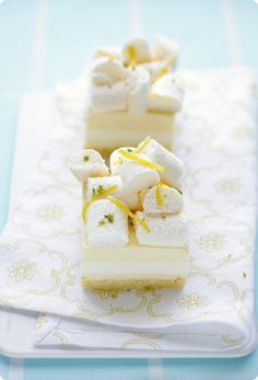 Lemon Curd & Buttermilk Panna Cotta with Meringue via Aran Goyoaga #lemon #recipe