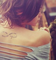 infinity shape tattoo ... back of neck