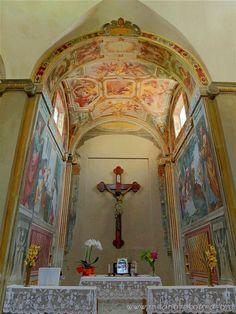 Milan (Italy) - Presbitery of the Oratory of Santa Margherita inside Villa Torretta