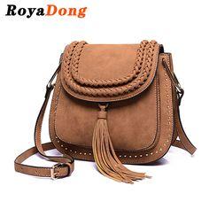 $44.32 (Buy here: https://alitems.com/g/1e8d114494ebda23ff8b16525dc3e8/?i=5&ulp=https%3A%2F%2Fwww.aliexpress.com%2Fitem%2FRoyaDong-2016-Women-Messenger-Bags-Small-Women-s-Handbags-Scrub-Pu-Leather-Vintage-Crossbody-Designer-Shoulder%2F32598068429.html ) RoyaDong 2016 Shoulder Bags Small Crossbody Bag For Women Handbags PU Leather Rivet Tassel Women Messenger Bag With Weave for just $44.32