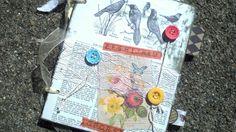For The Birds - Vintagy Scrapbook Notebook Album for Photos, Notes, Lists, Quotes, Scripture. $15,00, via Etsy.