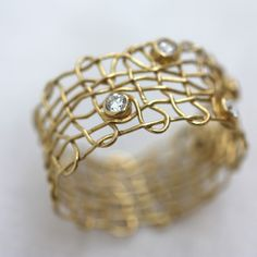 Vicky Forrester: 'Venus Ring'. 18ct Ethical Gold, with Conflict-free Diamonds.