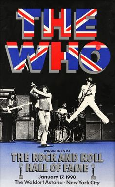 The Who - Rock and Roll Hall of Fame - New York 1990 - Mini Print