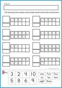 Ten Frames: Snow   Ten frames, Worksheets and Numbers
