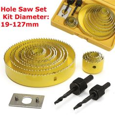 16pcs Hole Saw Cutting Set With Hex Wrench 19-127mm Hole Saw Kit #bitkit #holesawbits #holesaw #sawbits  | eBay