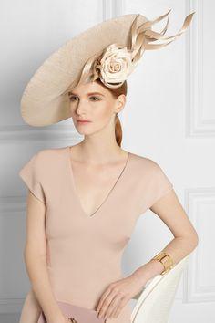 Philip Treacy | Buntal-embellished sinamay hat | NET-A-PORTER.COM