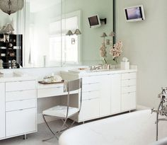 A House Like This: ensuite bathroom vanity unit