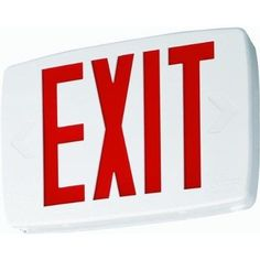 Lithonia Lighting 388086 Quantum Exit Sign With Led Lamps, 0.69 Watts, Red