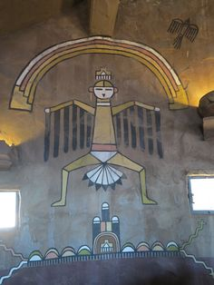Interior of Desert View Watchtower(Designed by Mary Colter), Grand Canyon National Park (photo by Nancy Leifker)