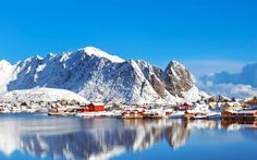 fishing village of lofoten islands ~ image by frank krahmer