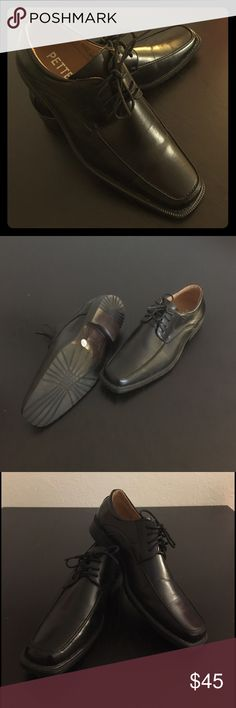 Men's dress shoes Lace up men's dress shoes. Like new, only worn once. Black, size 10. Open to offers! Shoes