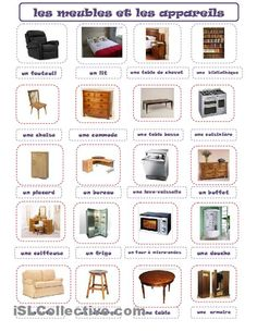 1000 images about vocabulaire fr on pinterest fle in french and vocabulary - La maison plus meubles ...