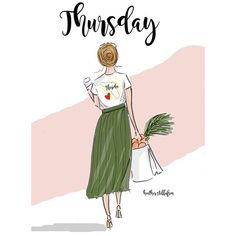 Hello Thursday, Hello Weekend, Illustration Mignonne, Cute Illustration, Girly Quotes, Art Quotes, Positive Quotes For Women, Ecole Art, Grand Tour